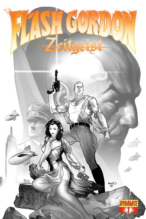 Flash Gordon: Zeitgeist #1 B&W sketch cover by Paul Renaud