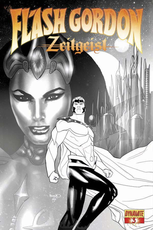 Flash Gordon: Zeitgeist #3 Black & White incentive cover by Paul Renaud