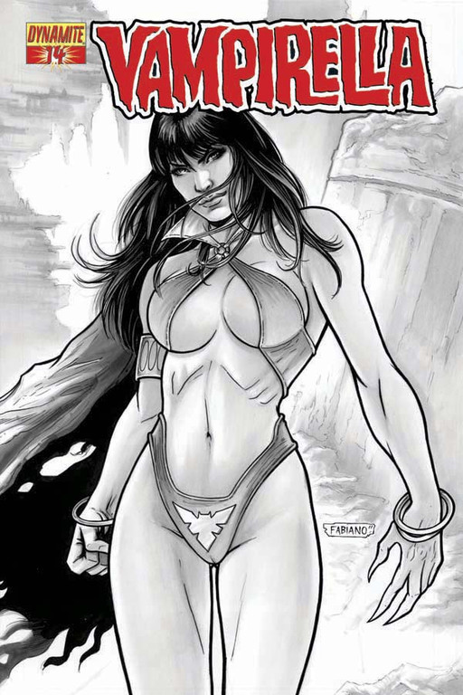 Vampirella #14 Black & White incentive cover by Fabiano Neves