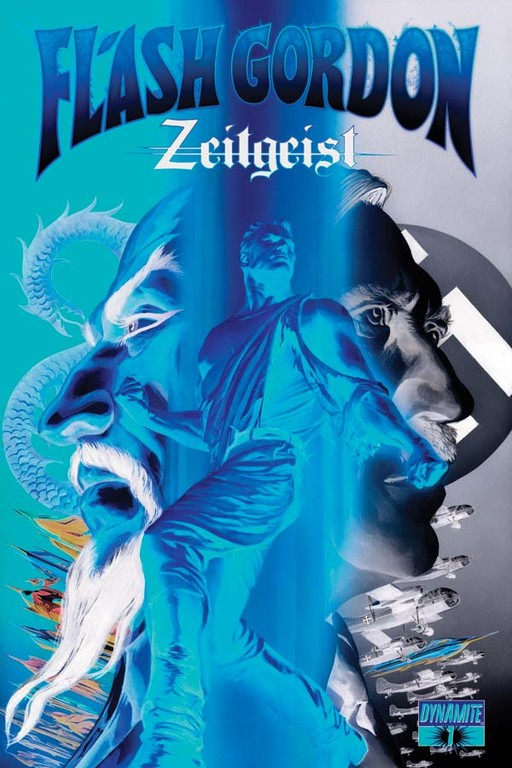 "Flash Gordon: Zeitgeist #1 ""Negative"" incentive cover by Alex Ross"