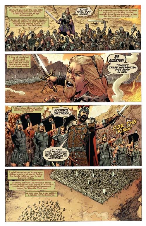 Red Sonja #51 - page 1 (script: Trautmann / art: Geovani)