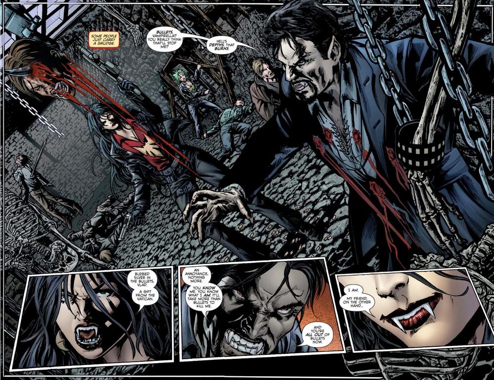 Vampirella #5: Page 4-5 (Script: Trautmann / Art: Reis & Inlight Studio)