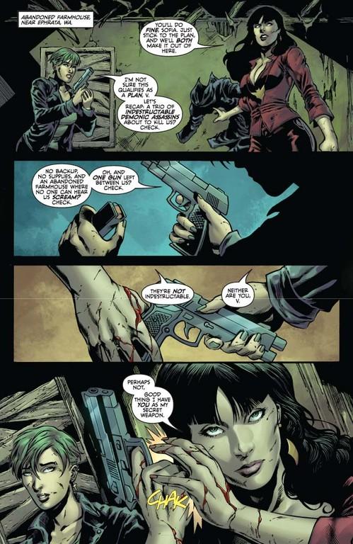 Vampirella #10: Pages 2-3 (Script: Trautmann / Art: Michael)