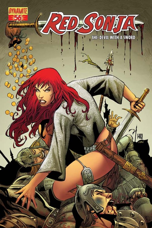 Red Sonja #56 cover by Walter Geovani