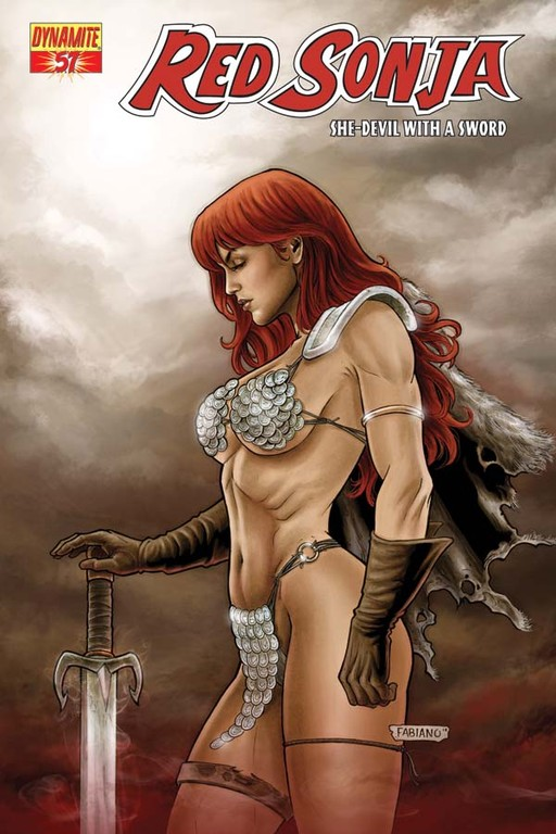 Red Sonja #57 cover by Fabiano Neves