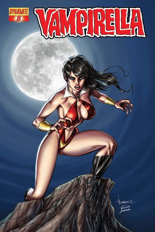 Vampirella #8 cover by Alé Garza