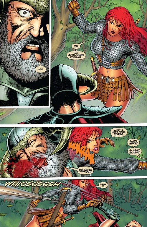 Red Sonja #56 page 5 (Script: Trautmann / Art: Salonga)