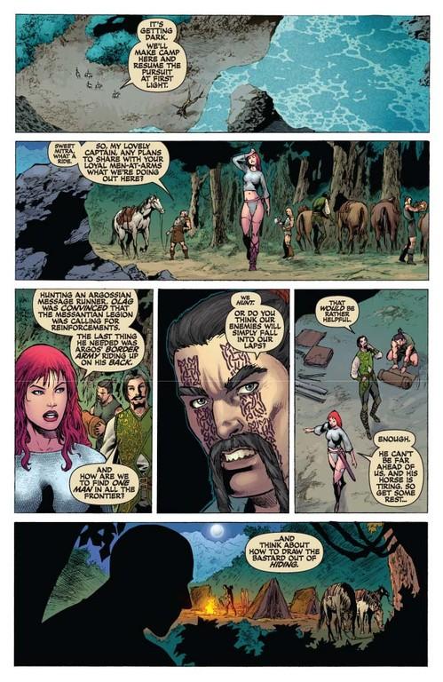 Red Sonja #51 - page 4 (script: Trautmann / art: Geovani)