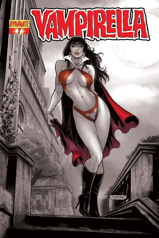 "Vampirella #7 ""Spot Red"" incentive cover by Fabiano Neves"