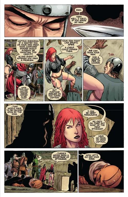 Red Sonja #52 - page 5 (script: Trautmann / art: Geovani)