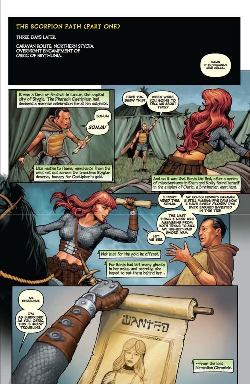 Red Sonja #60 - Page 5 (Script: Trautmann / Art: Berkenkotter)