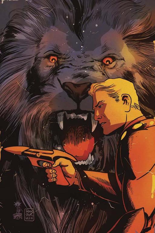 "Flash Gordon: Zeitgeist #4 ""Virgin"" incentive cover by Francesco Francavilla."