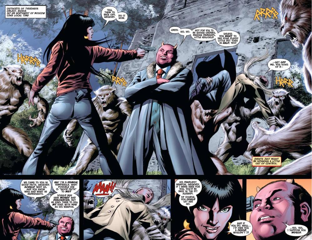 Vampirella #13 — Page 5 (Script: Trautmann / Art: Malaga)