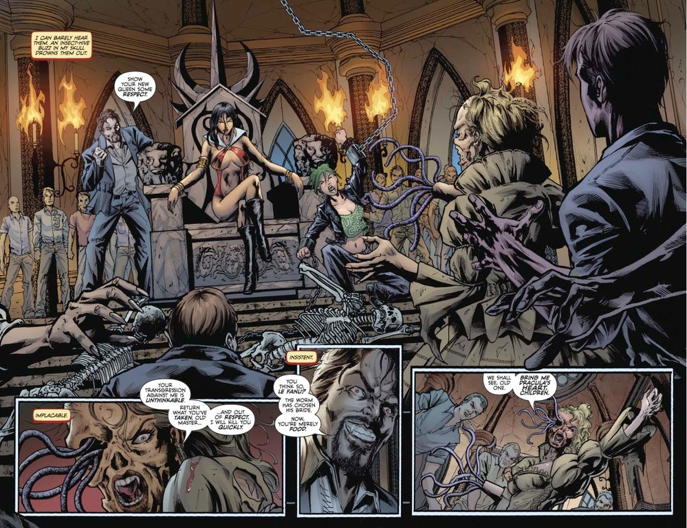 Vampirella #6 pages 2-3 (script: Trautmann / Art: Reis)