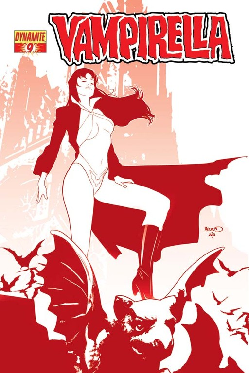 "Vampirella #9 ""Blood Red"" incentive cover by Paul Renaud"