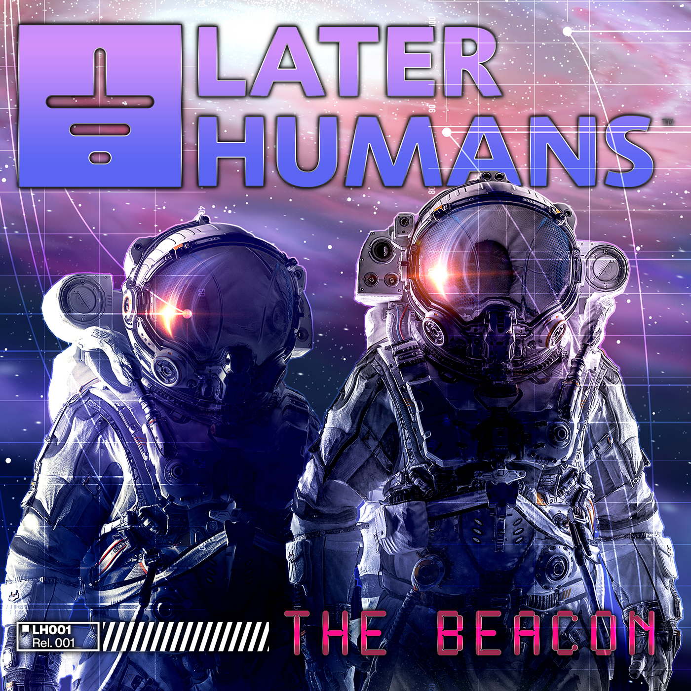 """Later Humans' """"The Beacon"""" Single Cover"""