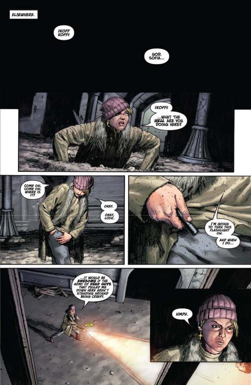 Vampirella #14 -- page 5 (script: Trautmann / art: Berkenkotter)