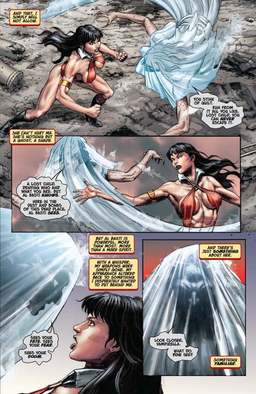 Vampirella #14 -- page 3 (script: Trautmann / art: Berkenkotter)