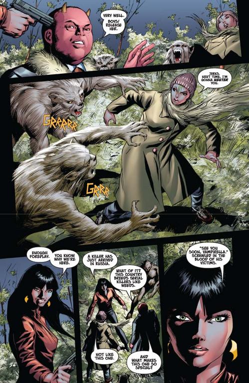 Vampirella #13 — Pages 2-3 (Script: Trautmann / Art: Malaga)