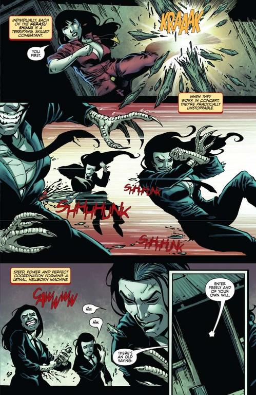 Vampirella #10: Page 5 (Script: Trautmann / Art: Michael)
