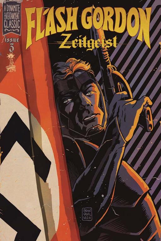 Flash Gordon: Zeitgeist #3 cover by Francesco Francavilla.