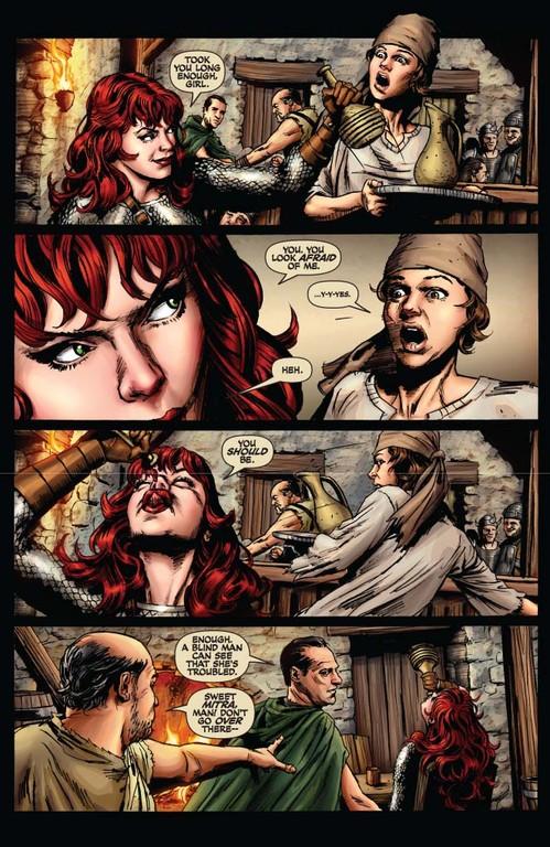 Red Sonja #55 - page 4 (script: Trautmann / art: Berkenkotter)