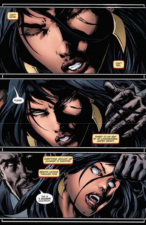Vampirella #6 page 1 (script: Trautmann / Art: Reis)