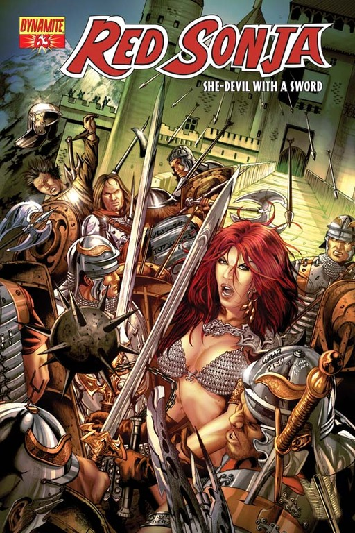 Red Sonja #63 cover by Wagner Reis