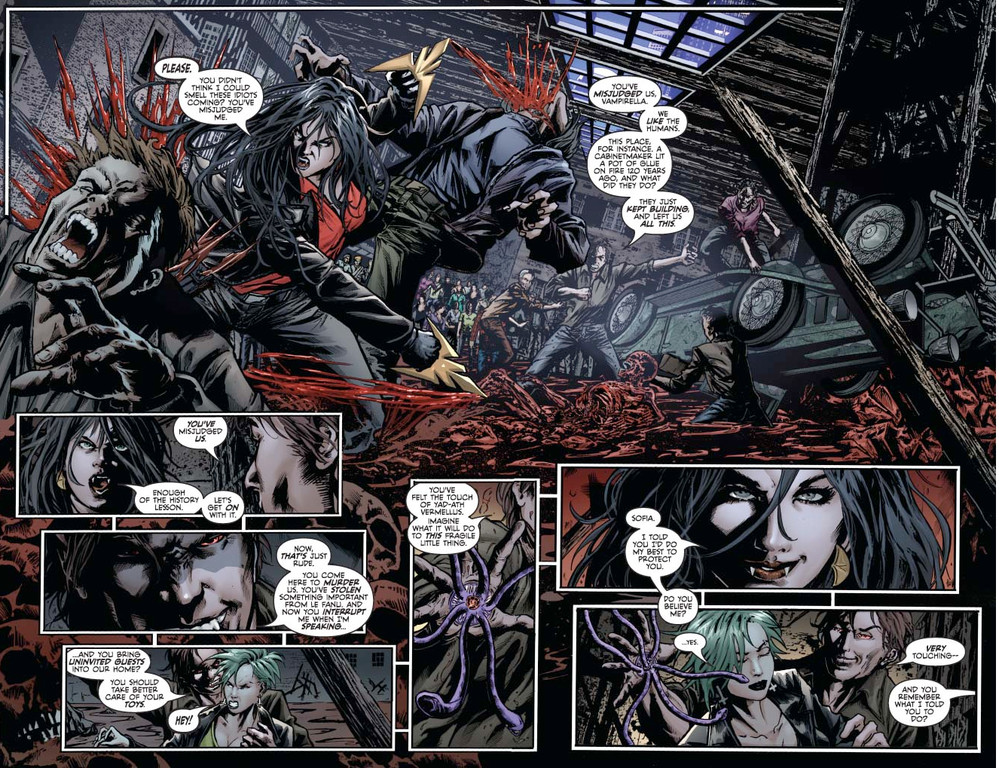 Vampirella #4, pages 4-5 (Script: Trautmann / Art: Reis, Inlight Studios)