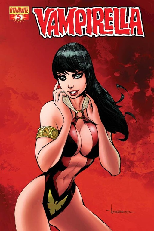 Vampirella #5 cover by Alé Garza