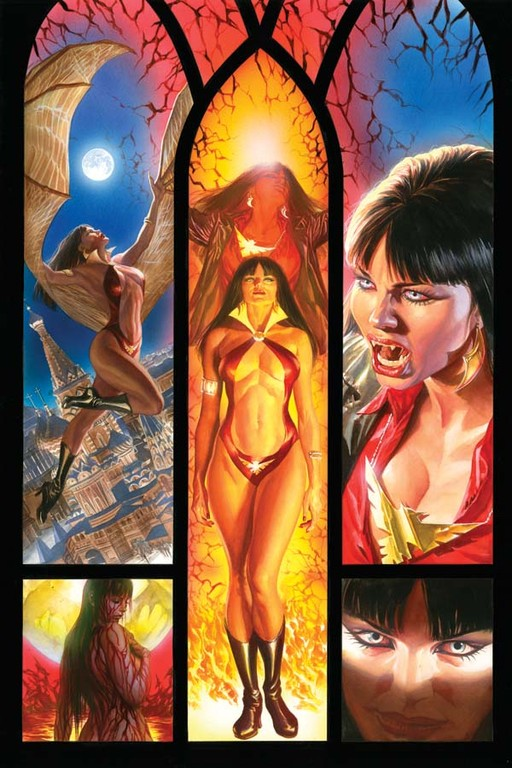 Vampirella #12 cover by Alex Ross.