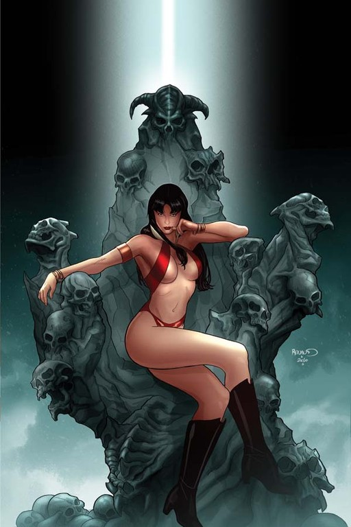 "Vampirella #4 ""virgin"" incentive cover by Paul Renaud"