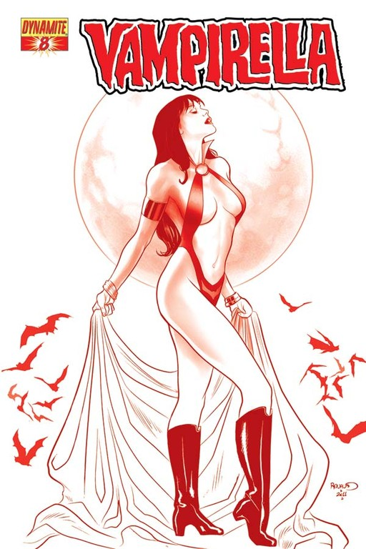 "Vampirella #8 ""Blood Red"" incentive cover by Paul Renaud"