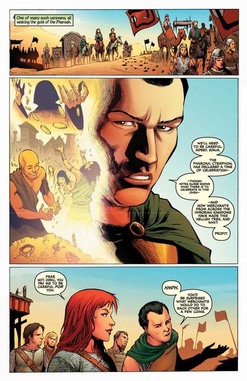 Red Sonja #61 - page 4 (script: Trautmann / art: Geovani)