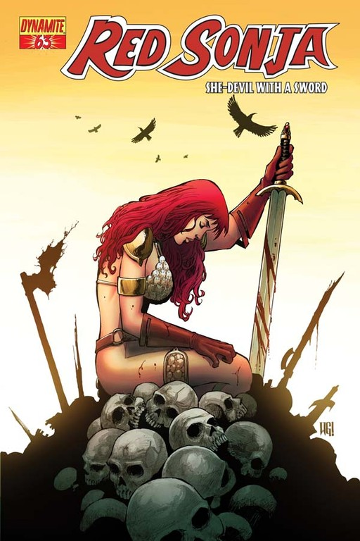 Red Sonja #63 cover by Walter Geovani