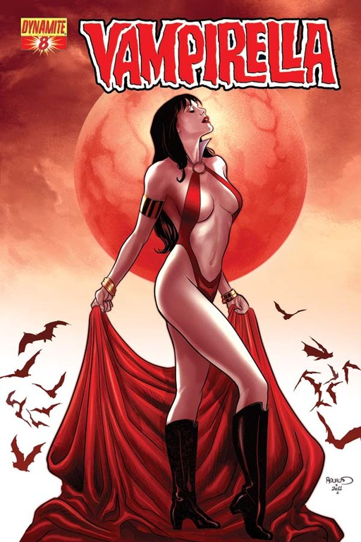 Vampirella #8 cover by Paul Renaud