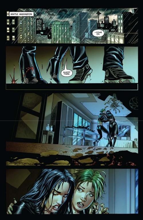 Vampirella #7 page 1 (script: Trautmann / art: Geovani)
