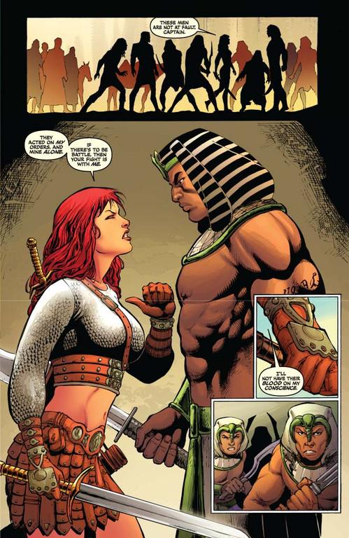 Red Sonja #62 - page 5 (script: Trautmann / art: Geovani)