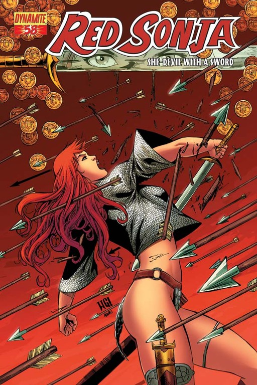 Red Sonja #58 cover by Walter Geovani