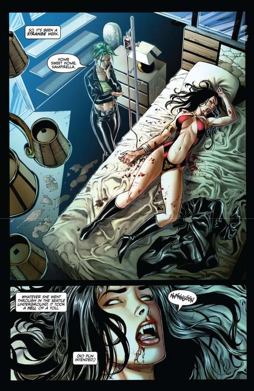 Vampirella #7 page 2 (script: Trautmann / art: Geovani)