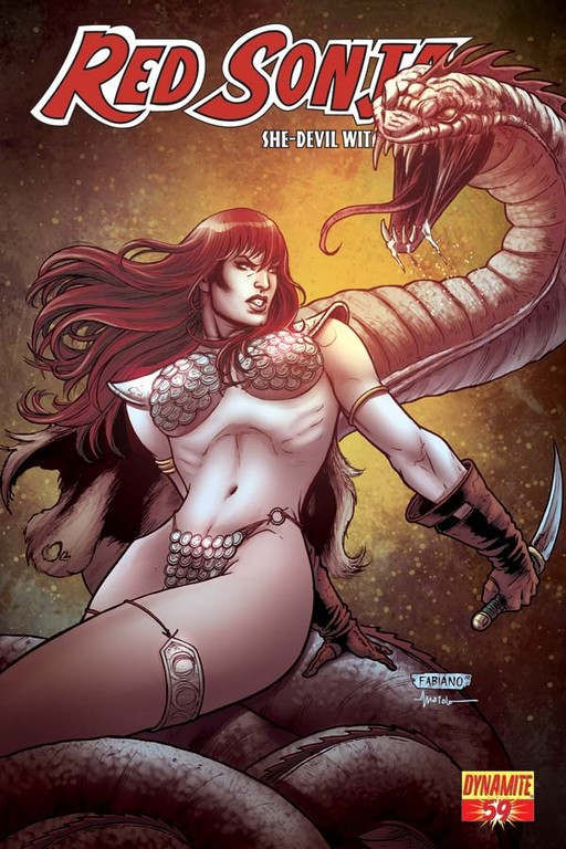 Red Sonja #59 cover by Fabiano Neves