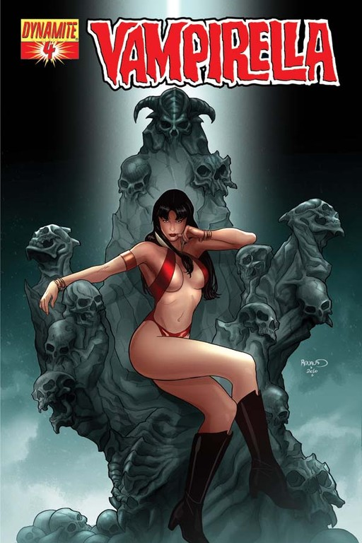 Vampirella #4 cover by Paul Renaud