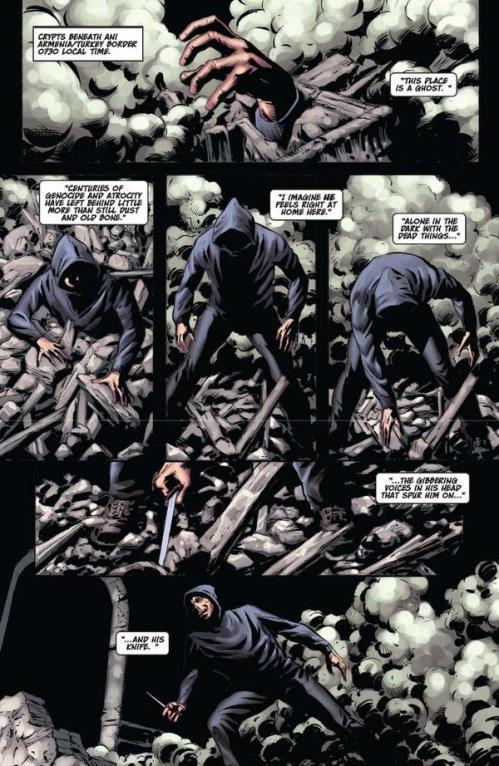 Vampirella #15 -- page 1 (script: Trautmann / art: Malaga)