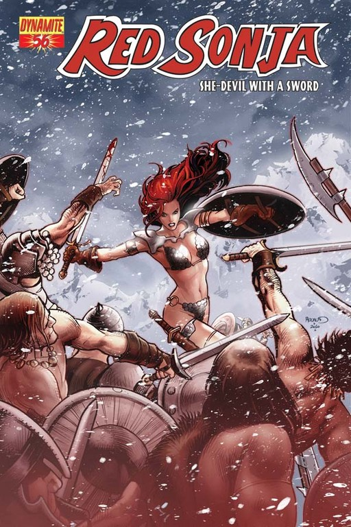 Red Sonja #56 cover by Paul Renaud