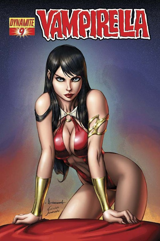 Vampirella #9 cover by Alé Garza