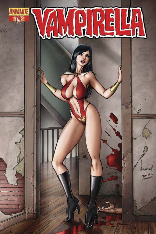 Vampirella #14 cover by Alé Garza