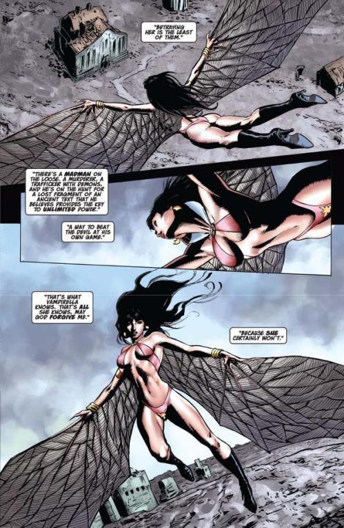 Vampirella #15 -- page 5 (script: Trautmann / art: Malaga)