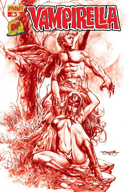 "Vampirella #5 ""Blood Red Sketch"" incentive cover by Stephen Segovia"