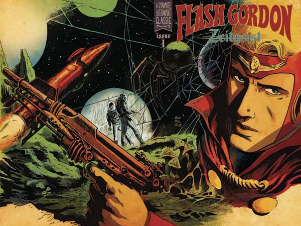 Flash Gordon: Zeitgeist #1 wraparound incentive cover by Francesco Francavilla.
