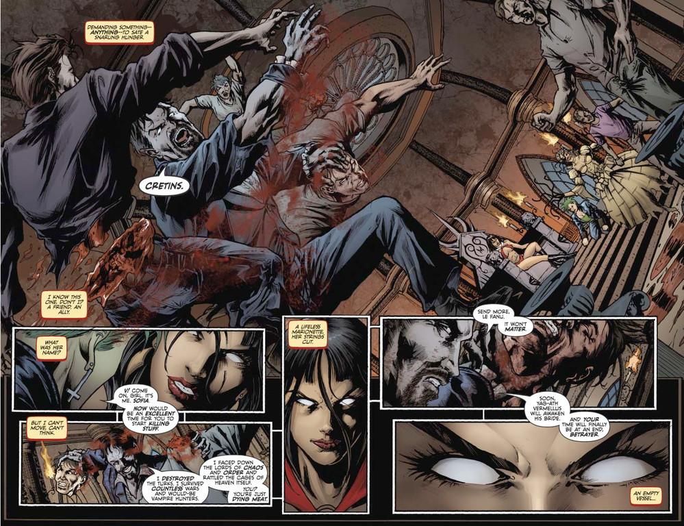 Vampirella #6 pages 4-5 (script: Trautmann / Art: Reis)